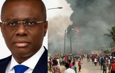 IS LAGOS NOW BROKE?? Sanwo-Olu Opens GoFundme Account To Beg Nigerians For N2billion Relief Funds For Explosion Victims