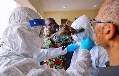 TEARY!!! Coronavirus Patients Receiving Treatment In Lagos Hospital Appeal To Nigerians To Stay At Home (Watch Video)