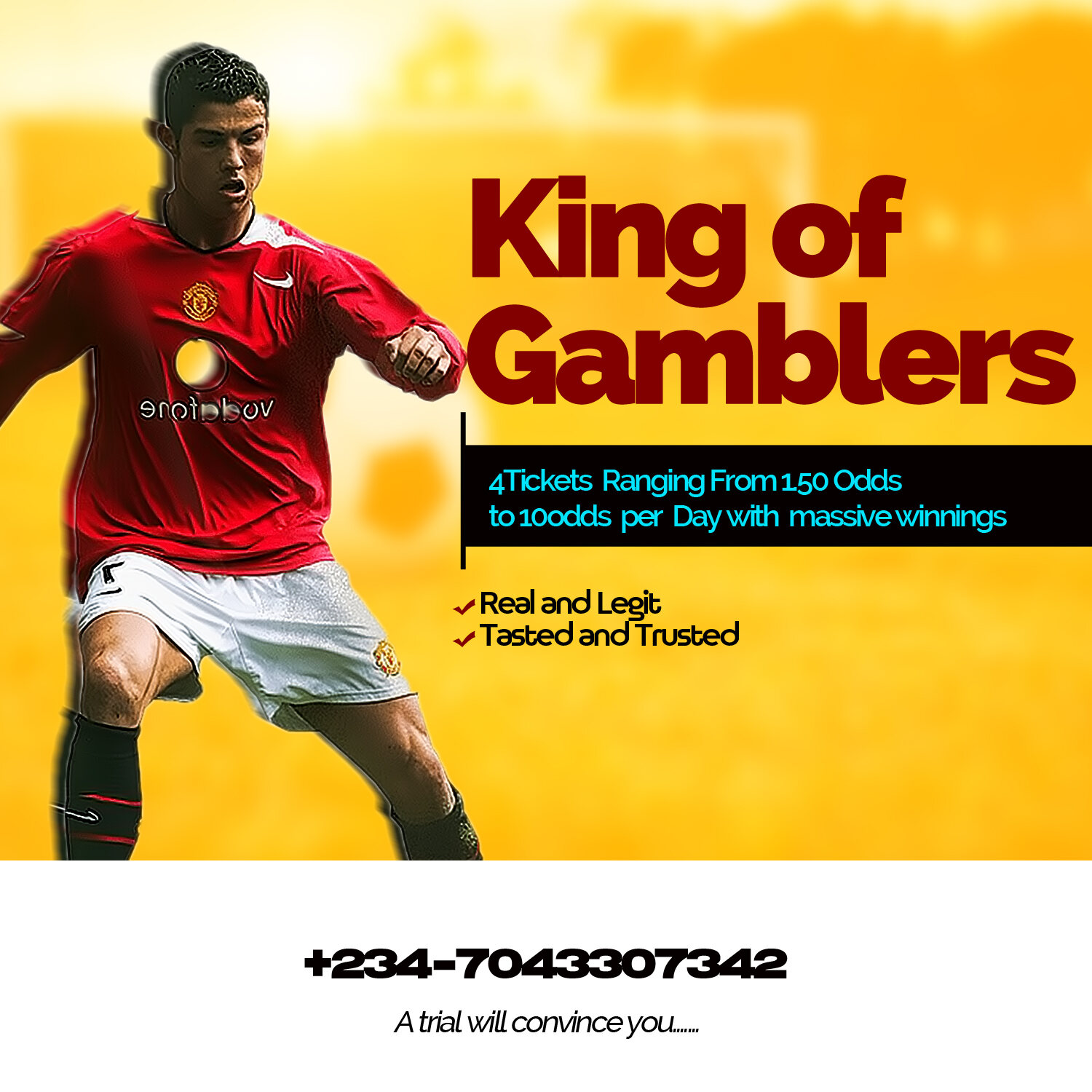 4 Tickets Ranging From 1.50odds To 10odds Per Day With Massive Winnings (See How)