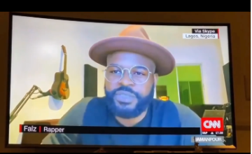 #EndSARS Protest: I'm Not Afraid For My Life, I Could Easily Get Killed By Something Else In Nigeria – Falz Says In Interview With CNN's Christiane Amanpour (Video)