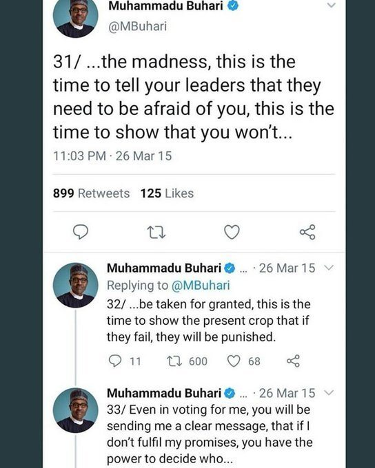 HIS WORD AGAINST HIM? See What President Buhari Said In 2015 Before Being Elected