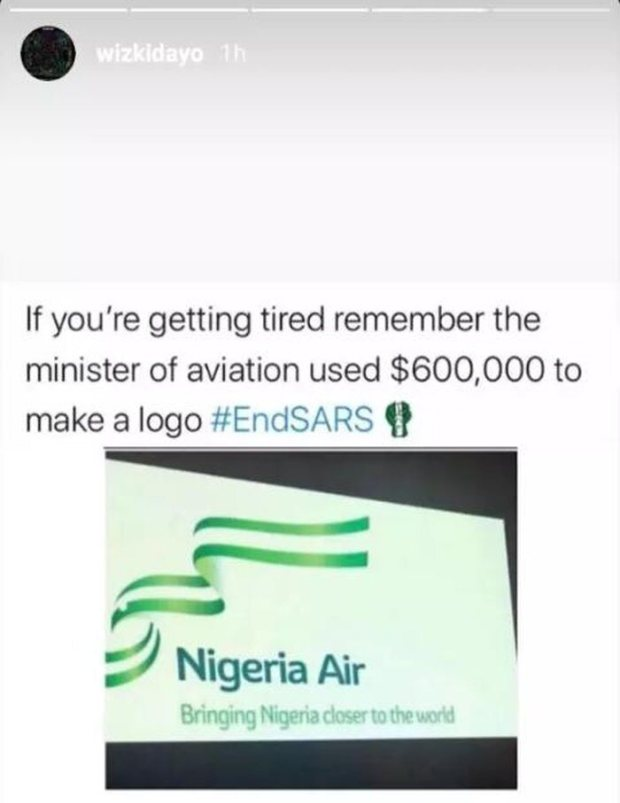 """If You Are Tired, Remember Minister Of Aviation Used $600,000 For Logo"" – Wizkid Blows Hot"