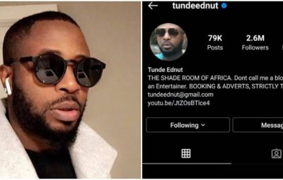 See Reactions from Celebrities and Fans as Tunde Ednut is Banned for a Second Time