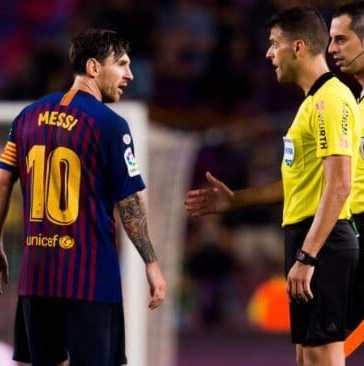 is Lionel MEssi the most protected player in history after red card