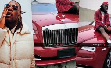 Burna Boy shows of luxury cars