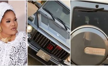 Mercedes Gang! Toyin Abraham Lavishes Millions on New Mercedes Benz Brabus