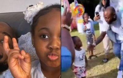 Davido Smacks His Daughter, Hailey For Attempting To Twerk At A Party (Video)