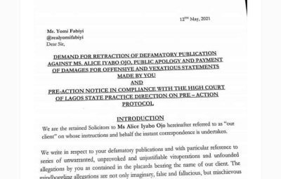 WAWU!! Nollywood Actress, Iyabo Ojo Sues Yomi Fabiyi Over Defamatory Posts And Also With N100 Million In Damages