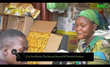 LWKMD! See How Nigerians Recite The Second Stanza Of National Anthem (Try Not To Eat While Watching)