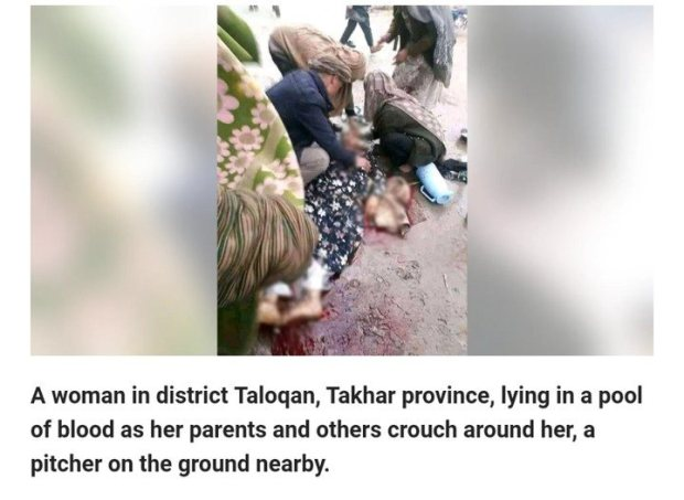 Woman 'Executed By Taliban For Not Wearing Burqa' (Graphic Photos)
