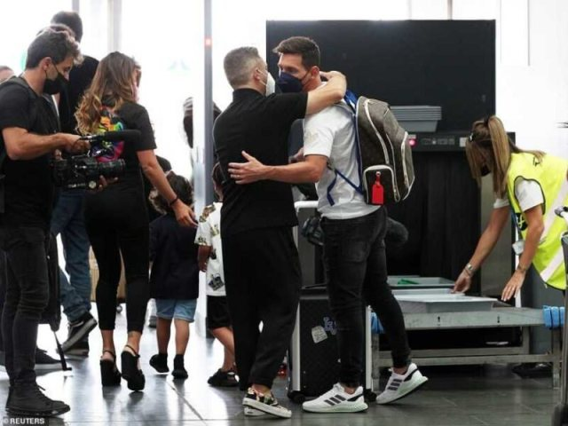 FINALLY! Lionel Messi Arrives In Paris To Complete PSG Transfer (Photos)