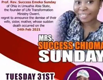 Pastor Success Sunday Forced To Marry Fiancée's Corpse Who Died During Abortion