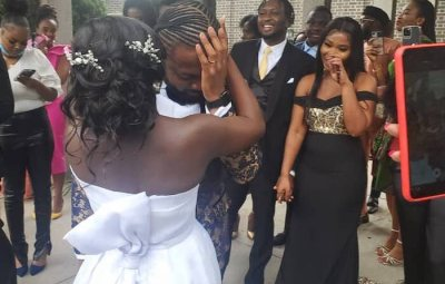 GOD WHEN!! Nigerian Man Breaks Down In Tears As His Bride Gifts Him A Car On Their Wedding Day (Video)