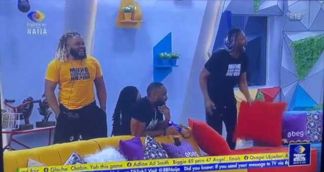 Video: Moment Angel and Pere returned to the #BBNaija House