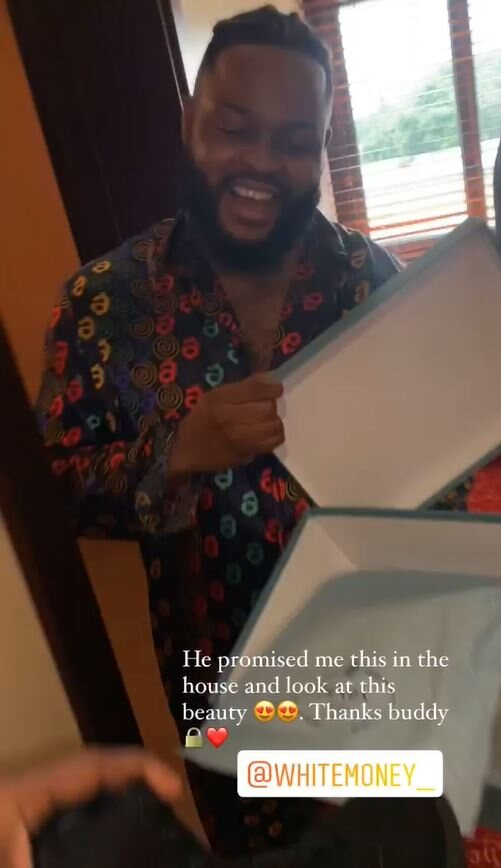 Whitemoney Gifts Cross New Shoes As He Promised