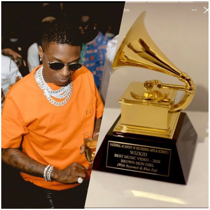 Celebrity news: Wizkid collect his Grammy plague weeks after Burna Boy collect his