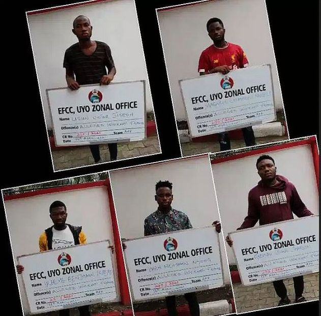EFCC Arrests Music Producer, Four Others For Internet Fraud In Uyo