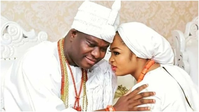 'It's not from her heart, she is just saying anything to spite a second wife' Nigerians react to Olori Naomi's prayer to Ooni of Ife