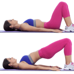 glute bridges for abs workout