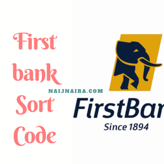 first bank sort code