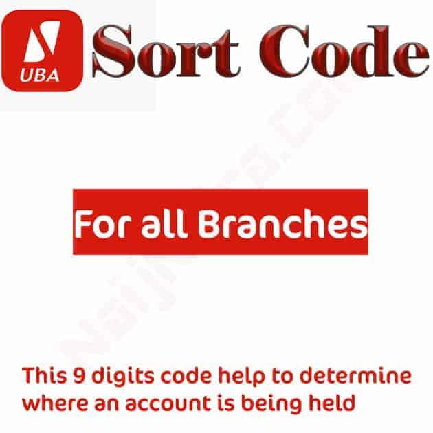uba sort code