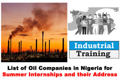 List of Oil Companies in Nigeria to Apply for the 2021 Summer Internship & IT Programme and their Addresses