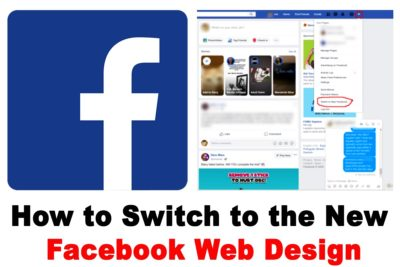 How to Switch to the New Facebook Web Design from the Classic One