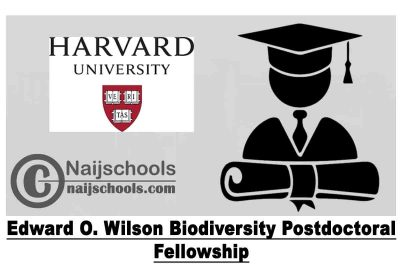 Edward O. Wilson Biodiversity Postdoctoral Fellowship 2020 at The Museum of Comparative Zoology - Harvard University (Stipend of $55,000) | APPLY NOW