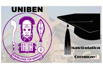 University of Benin (UNIBEN) Holds Virtual Matriculation Ceremony for 2019/2020 Academic Session
