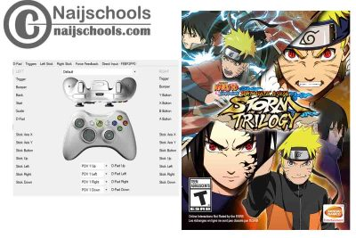 NARUTO SHIPPUDEN: Ultimate Ninja STORM TRILOGY X360ce Settings for Any PC Gamepad Controller   TESTED AND WORKING