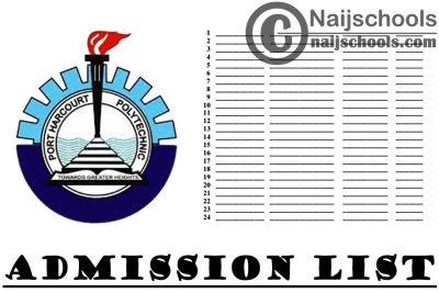 Port Harcourt Polytechnic (Captain Elechi Amadi Polytechnic) 2020/2021 2nd Batch Admission List   CHECK NOW