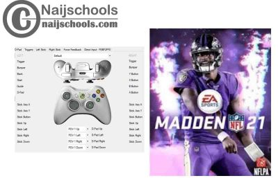 Madden NFL 21 X360ce Settings for Any PC Gamepad Controller   Tested & Working