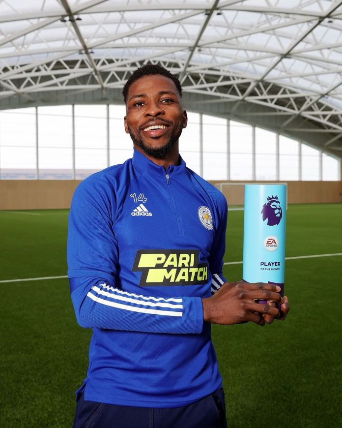 Kelechi Iheanacho was recently named Premier League's Player of the Month (Instagram/Leicester City)