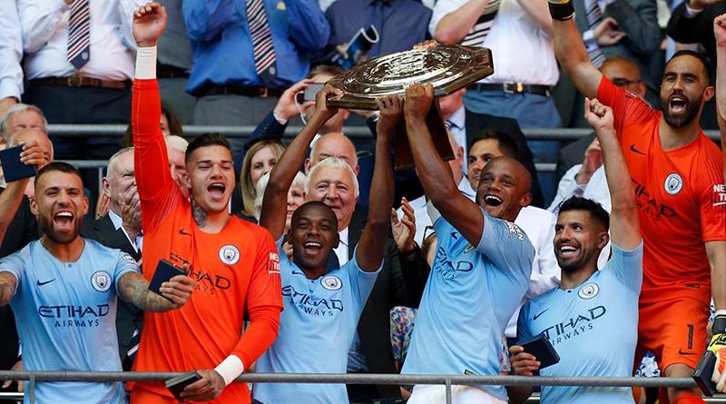 Манчестер Сити выигрывает Суперкубок Англии благодаря дублю Агуэро