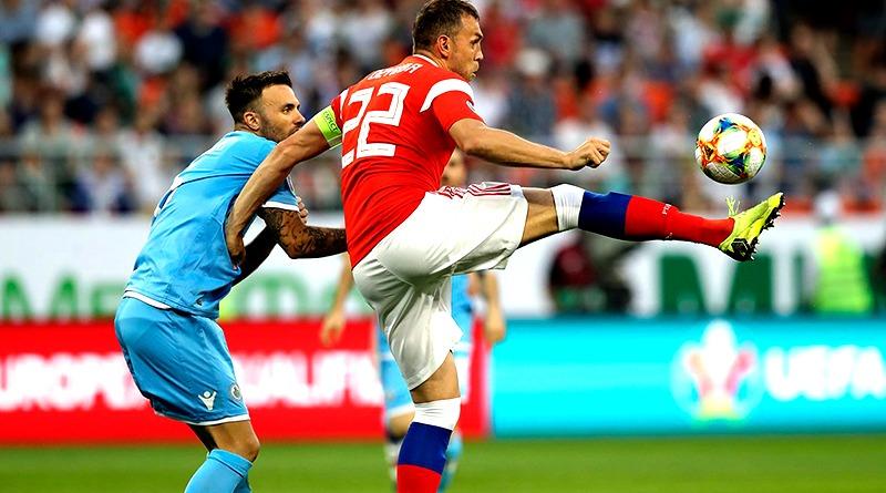 Сборная России забивает в ворота Сан-Марино 9 мячей