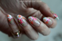 Easy flower nail art tutorial  Nail Lacquer UK