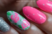 easy rose nail art - lacquer