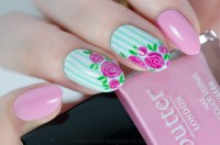 Vintage Rose Nail Art (3) - Nail Lacquer UK