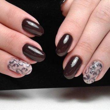 ногти коричневого цвета дизайн фото 6