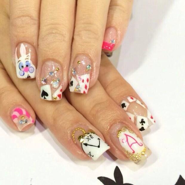 Alice in Wonderland nails~  nailartexpress.com