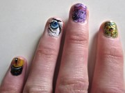 black cat eye nail art lab