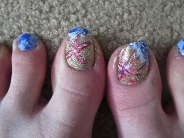 toenail design nail art lab