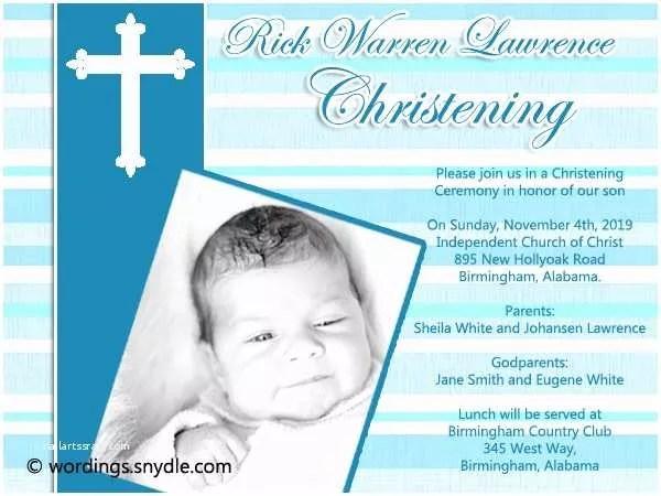 baptism invitation wording christening