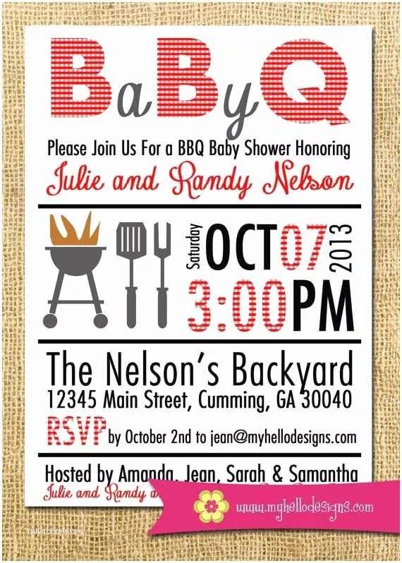 43 Bbq Baby Shower Invitations