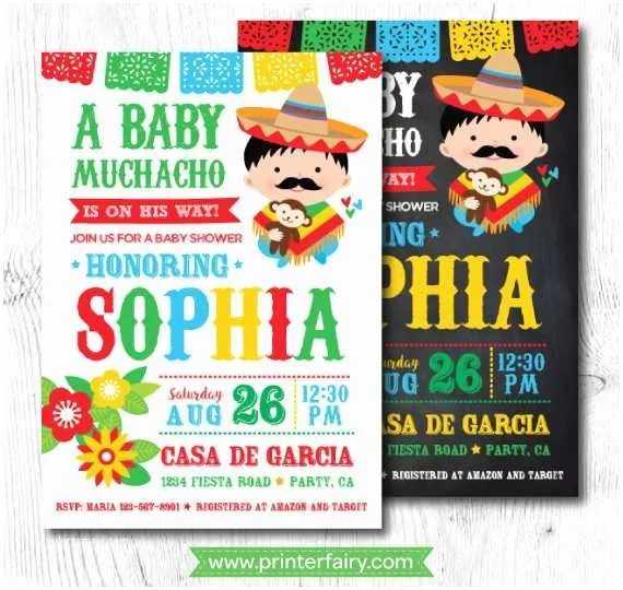 Fiesta Baby Shower Invitations Best 25 Mexican Showers