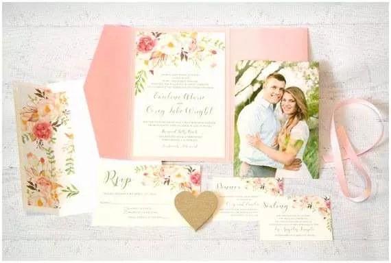 Tri Fold Wedding Invitations With