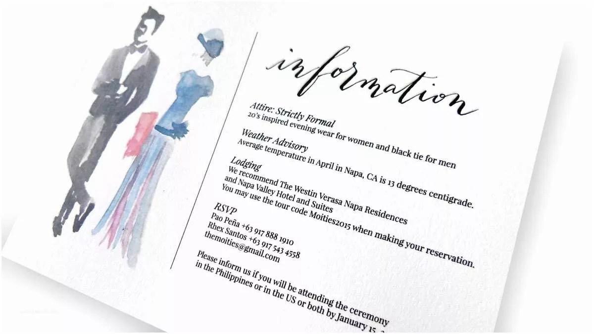 Dress Code Wedding Invitation Attire | wedding