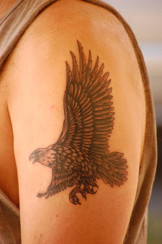 Eagle Tattoos On Shoulder : eagle, tattoos, shoulder, Eagle, Tattoos, Shoulder, Designs, Ideas