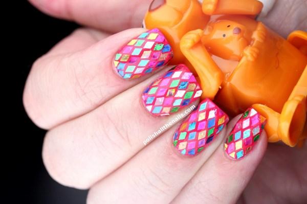 Rainbow Glitter Snakeskin Nails Nailartus Nail Art Design