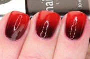 vampy red gradient with nails